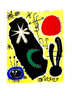 Joan Miro (after) - Mars - Pochoir