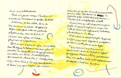 "Joan Miro-Album 19 Original Lithographs Pages 11,12-26"" x 40""-Lithograph-1961"