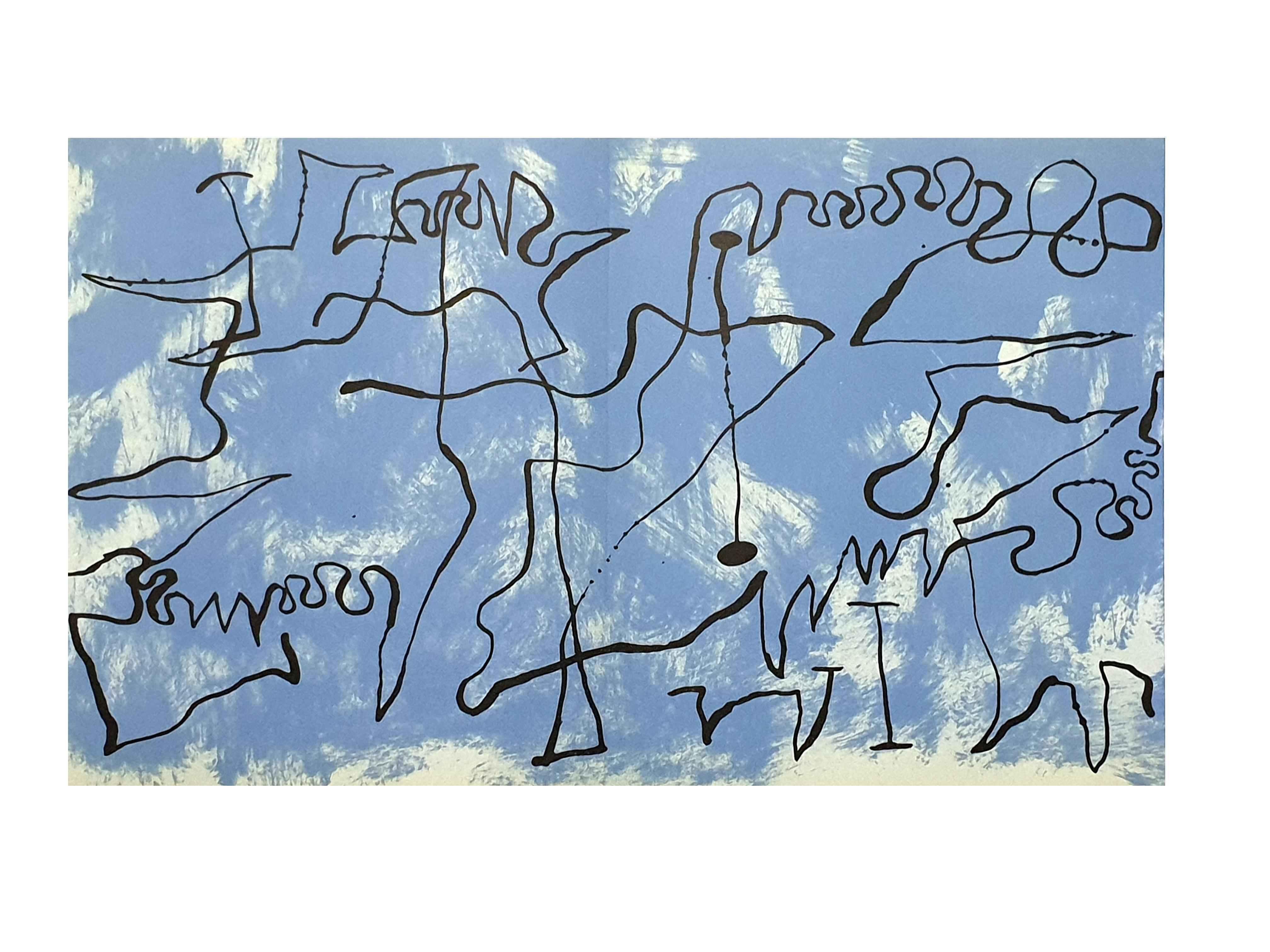 Joan Miro - Blue Maze - Original Lithograph