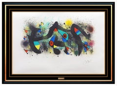 Joan Miro Ceramiques Color Lithograph Hand Signed Abstract Modern Art