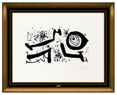 Joan Miro Color Etching Aquatint Hand Signed Modern Abstract Picasso Reventos