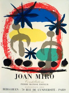 "Joan Miro-Constellations-27"" x 19.5""-Lithograph-1959-Surrealism-Multicolor"
