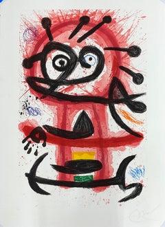 """Joan Miro, """"Creole Dancer"""", original etching and aquatint"""