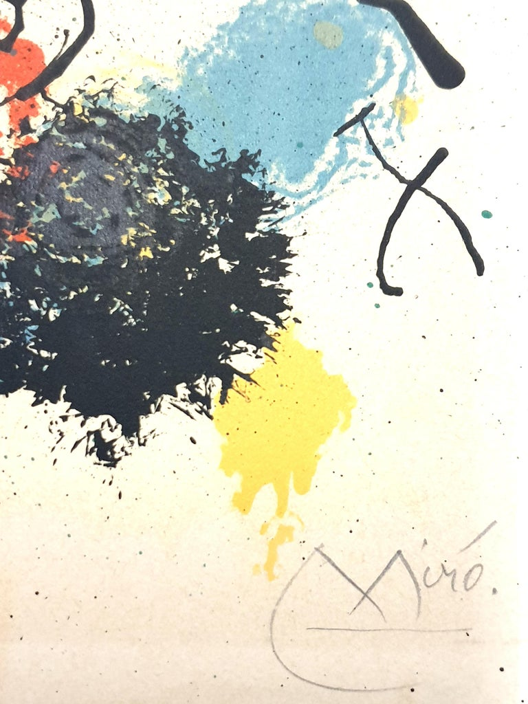 Joan Miro - I Work Like a Gardener - Original Handsigned Lithograph - Abstract Print by Joan Miró