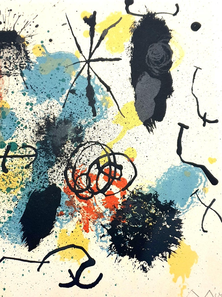 Joan Miro - I Work Like a Gardener - Original Handsigned Lithograph For Sale 1