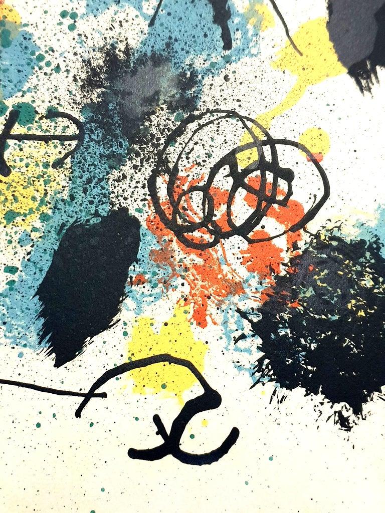 Joan Miro - I Work Like a Gardener - Original Handsigned Lithograph For Sale 2