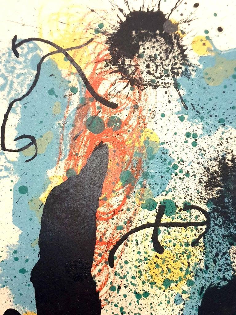 Joan Miro - I Work Like a Gardener - Original Handsigned Lithograph For Sale 3