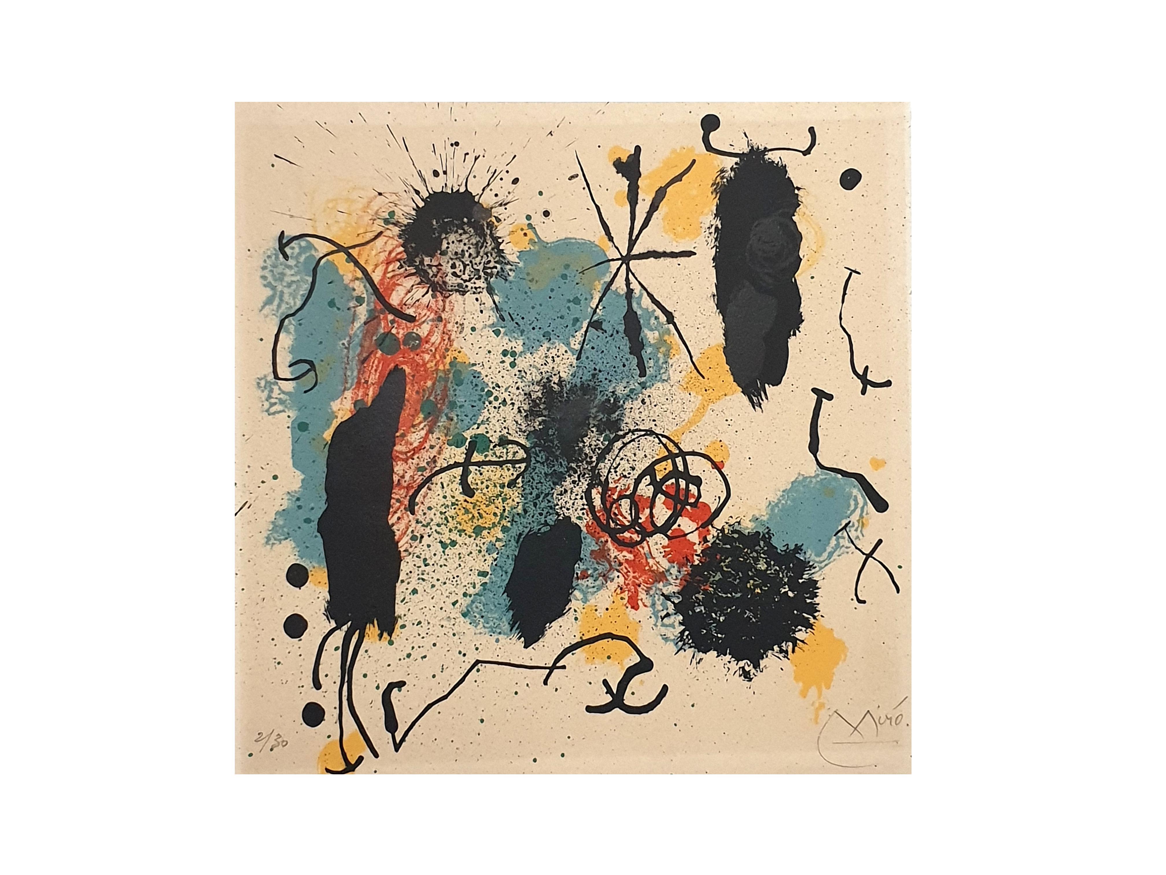 Joan Miro - I Work Like a Gardener - Original Handsigned Lithograph