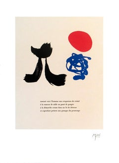 "Joan Miro-Illustrated Poems-""Parler Seul"" VIII-23.5"" x 17.75""-Lithograph-2004"