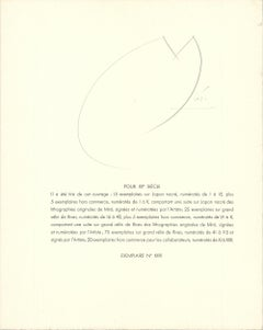 After Joan Miro-Je travaille come un jardinier (Cover Page) Signed lithograph