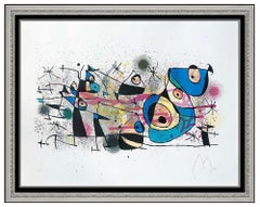 Joan Miro Large Color Lithograph Hand Signed Ceramiques Modern Abstract Artwork