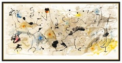 Joan Miro Large Hand Signed Color Lithograph Graphismes Modern Abstract Artwork