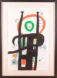 Joan Miro Le Grand Ordinateur Etching, aquatint and carborundum Painting Signed