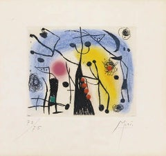 """Joan Miró, """"Les Magdaleniens"""", 1958, Etching & Aquatint in color, (72/75)"""