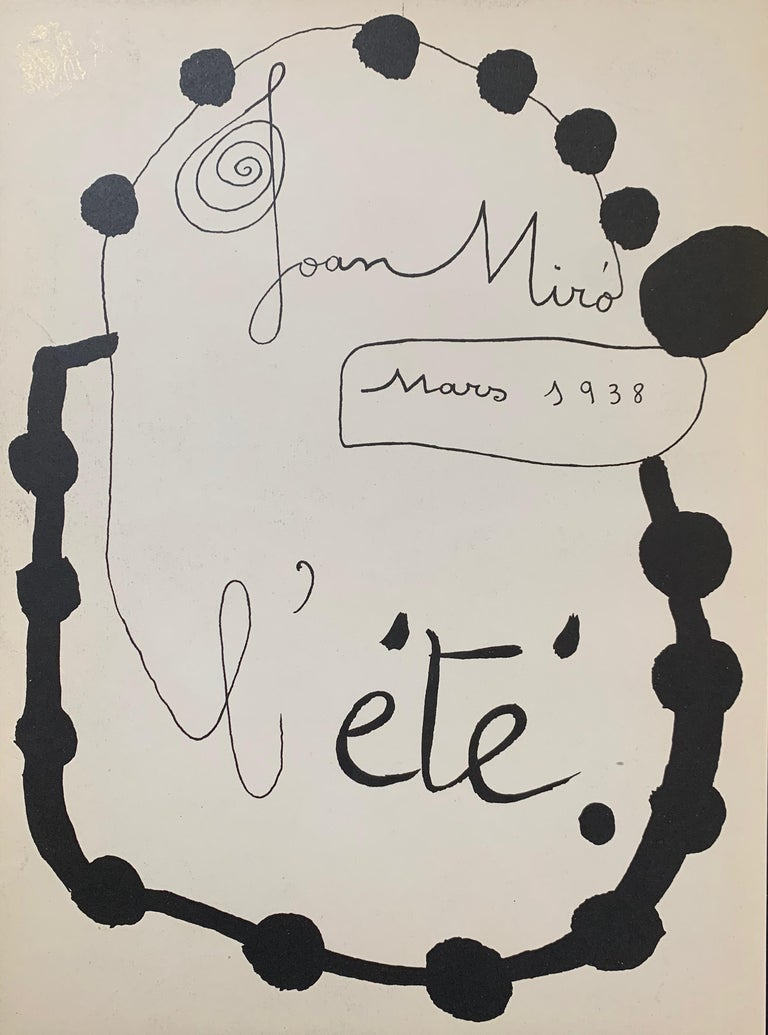 Joan Miro, L'Ete, (Summer), stencil - Surrealist Print by Joan Miró