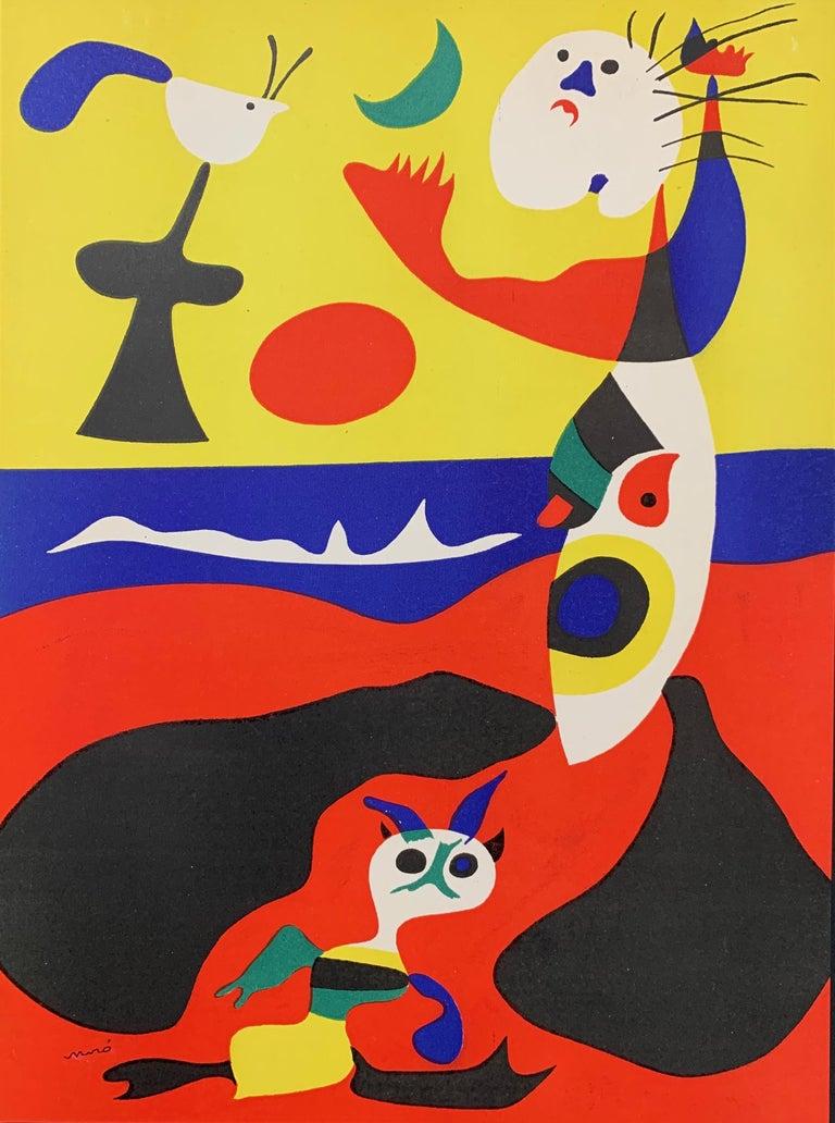 Joan Miró Abstract Print - Joan Miro, L'Ete, (Summer), stencil