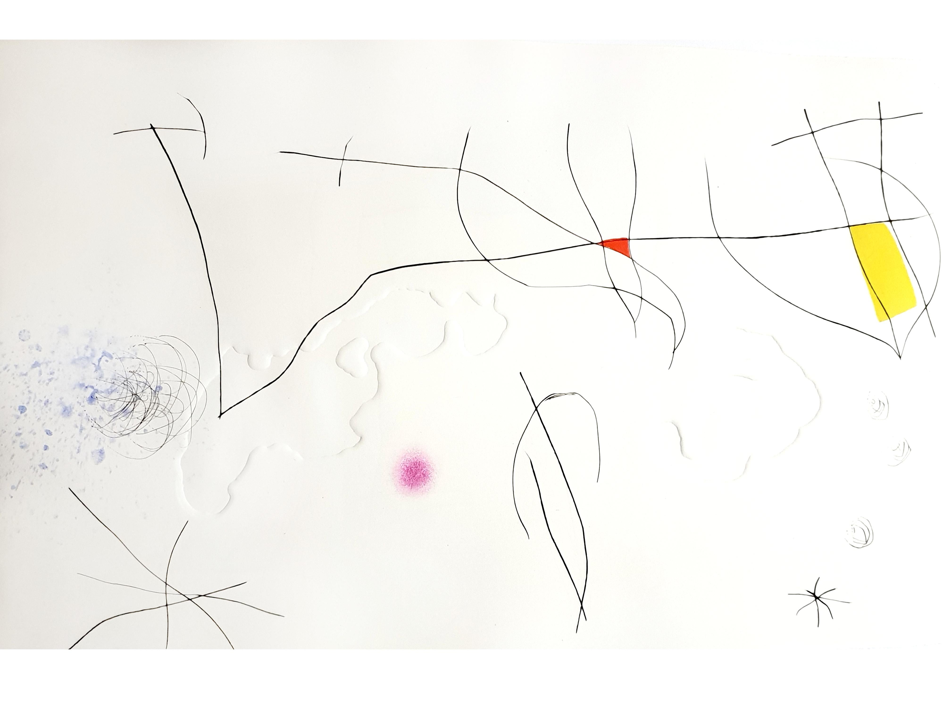 Joan Miro -  L'Issue Dérobée: one plate - Original Aquatint