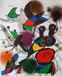 "Joan Miró, ""Lithograph II - Volume III"", Original Color Lithograph, 1969"