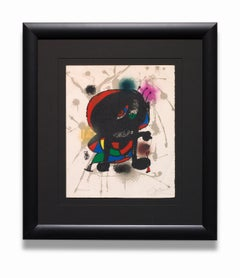 """""""Joan Miró Lithograph III (M.1115)"""" from the series """"Lithographe III, 1964-1969"""""""