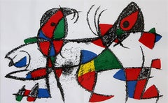 "Joan Miró, ""Lithograph X"", Color Lithograph, 2932/5000"