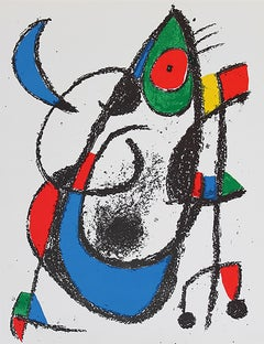 "Joan Miró, ""Lithograph XI"", Color Lithograph, 1975"