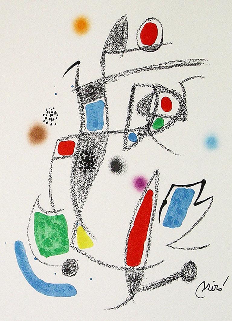 JOAN MIRÓ Maravillas con variaciones... Lithograph Contemporary art, Abstraction 1