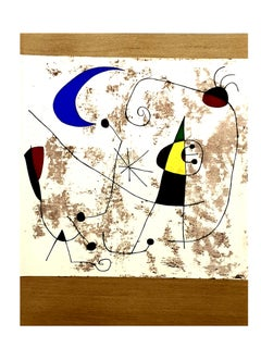 Joan Miro - Moon and Sun - Pochoir
