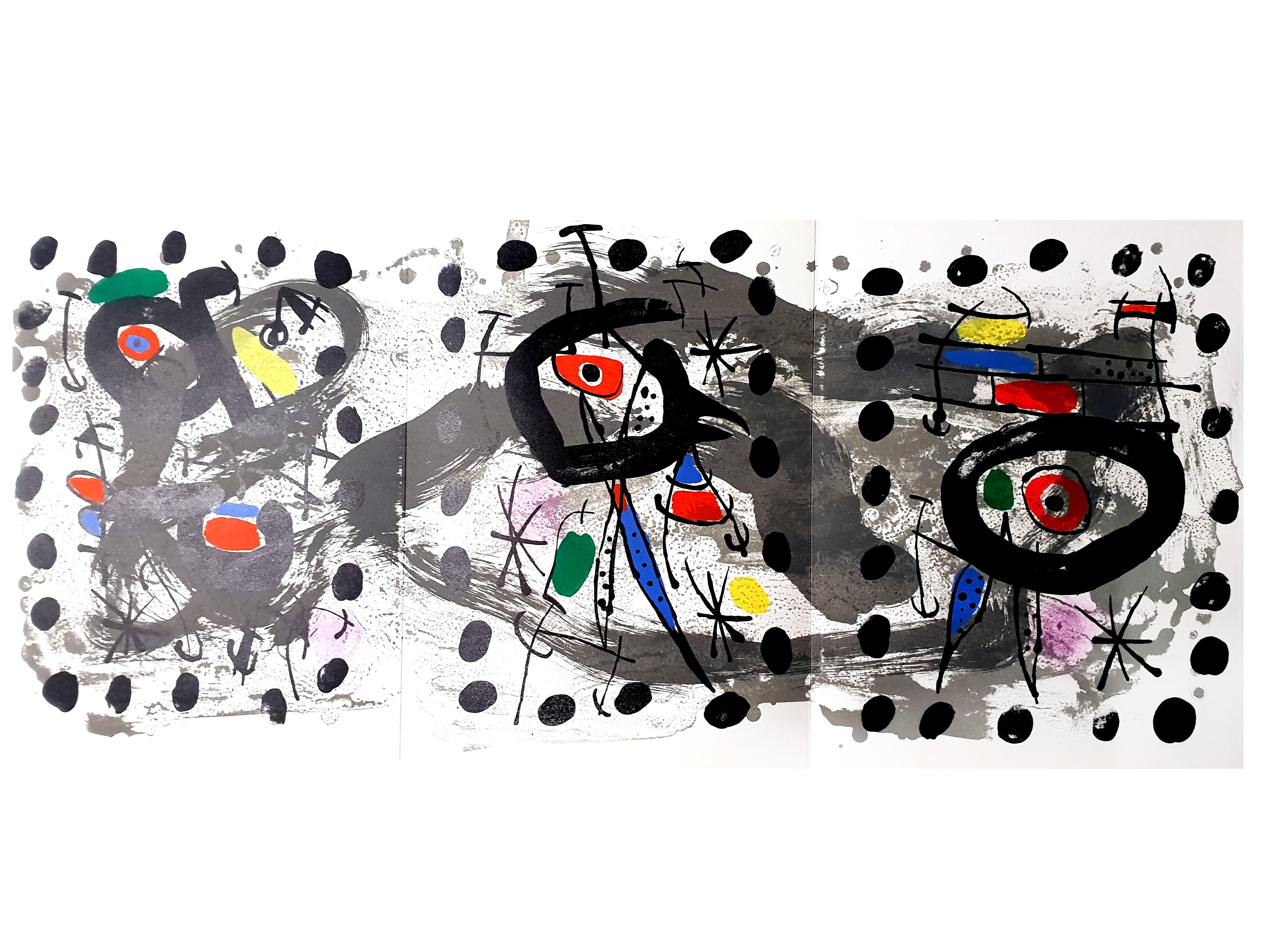 Joan Miro - Moon Bird, Sun Bird - Original Lithograph