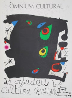 "Exhibition Poster after Joan Miró - ""Omnium Cultural Poster"""