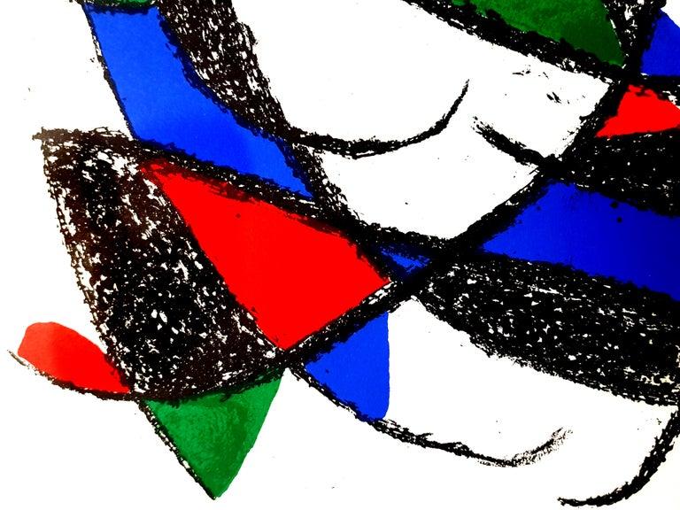 Joan Miro - Original Abstract Lithograph - Black Abstract Print by Joan Miró