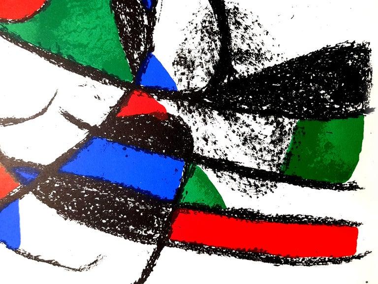 Joan Miro Miro Original Abstract Lithograph Artist: Joan Miro Medium: Original lithograph on Rives vellum Portfolio: Miro Lithographe II Year: 1975 Edition: 5,000 Image Size: 10