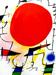 Joan Miro - Abstract Lithograph