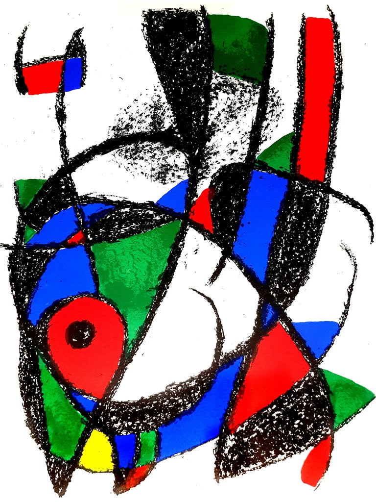 Joan Miró Abstract Print - Joan Miro - Original Abstract Lithograph