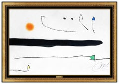 Joan Miro Original Color Etching Aquatint Marteau Sans Maitre Signed Modern Art