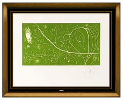 Joan Miro Original Color Etching Hand Signed Modern Abstract Picasso Reventos