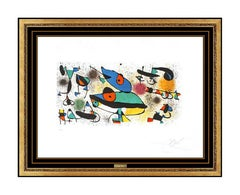 Joan MIRO Original Color Lithograph Hand Signed & Numbered Sculptures II Art