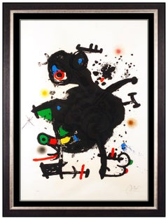 Joan Miro Original Color Lithograph Large Hand Signed Le Gourou Deploye Abstract