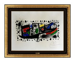 Joan Miro Original Color Lithograph Und Katalonian Hand Signed Modern Abstract