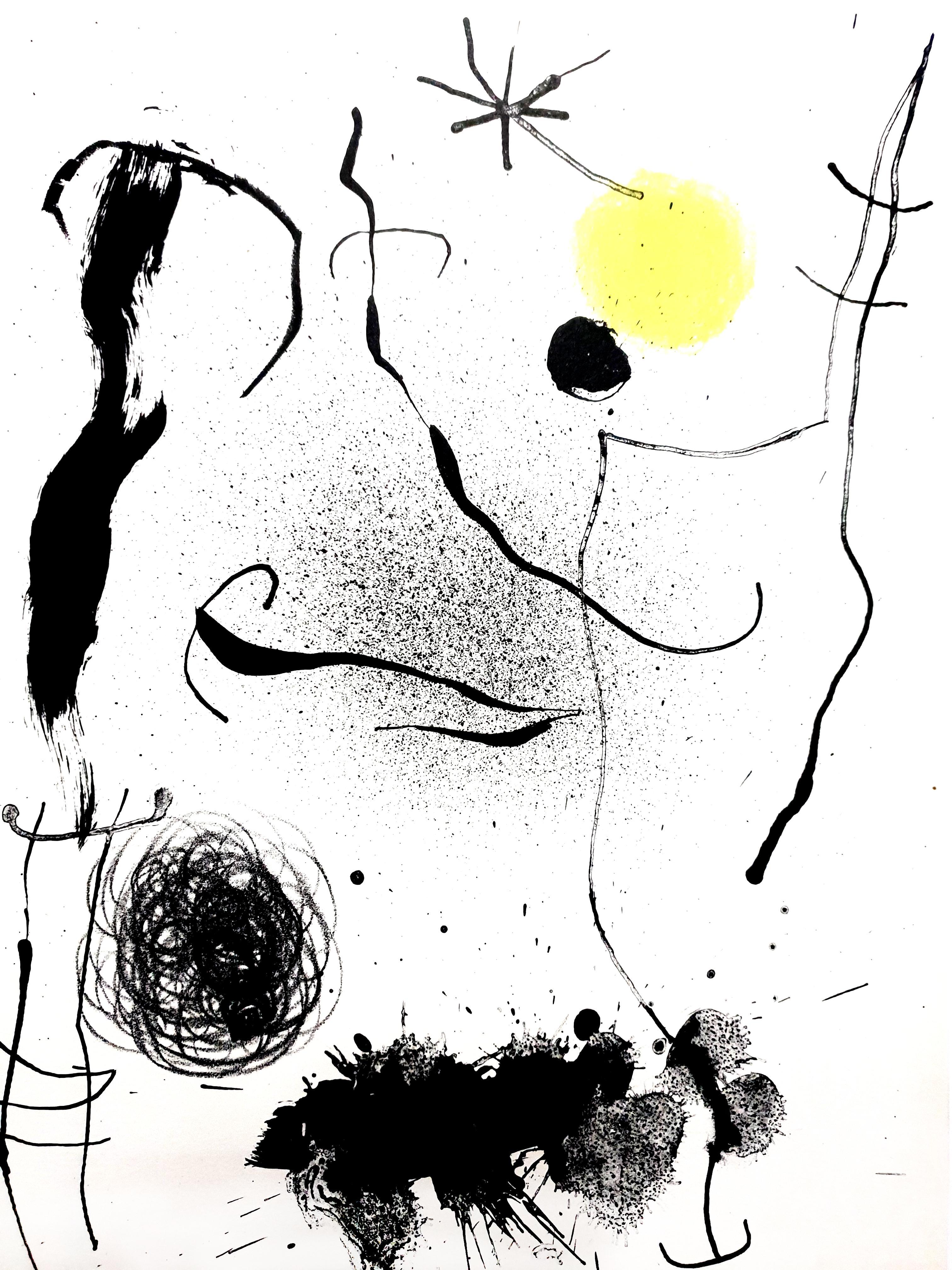 Joan Miro - Original Colorful Lithograph