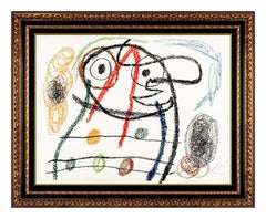 Joan Miro Original HAND SIGNED Color Lithograph Album 21 Plate 6 Abstract Modern