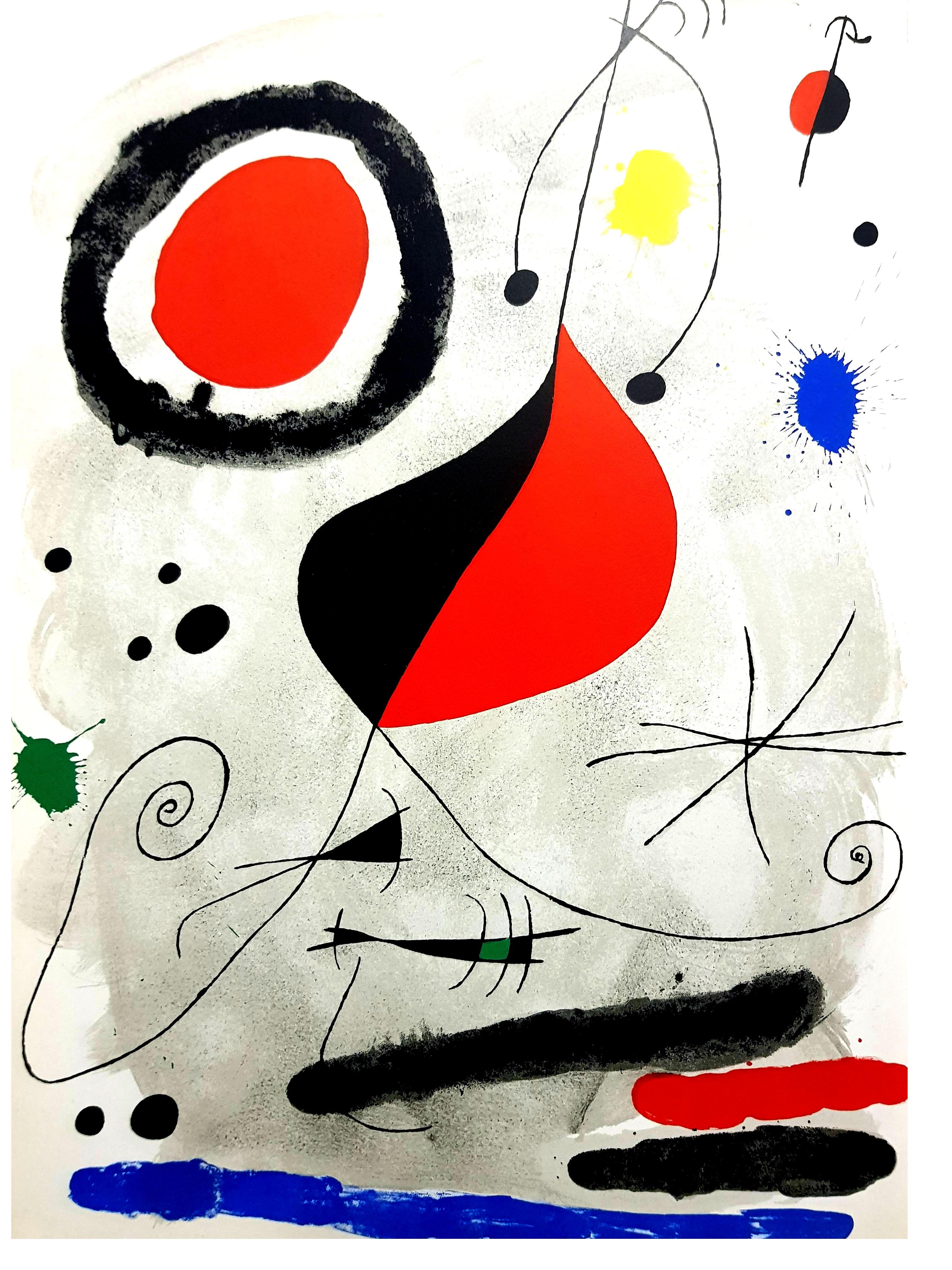 Joan Miro -  Original Lithograph from Derriere le Miroir