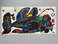"""Joan Miró original lithograph """"iran"""""""