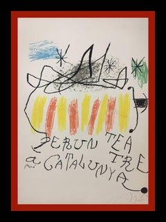 Joan Miro Original lithography limited edition painting