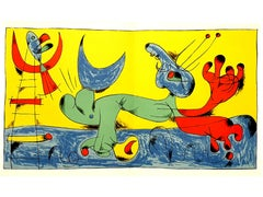 Joan Miro - Playing Dog - Lithograph in Colors