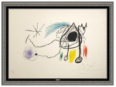 Joan Miro Sobreteixims Escultures Color Lithograph Hand Signed Abstract Artwork