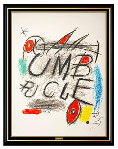 Joan Miro Umbracle Color Lithograph Hand Signed Abstract Modern Large Artwork