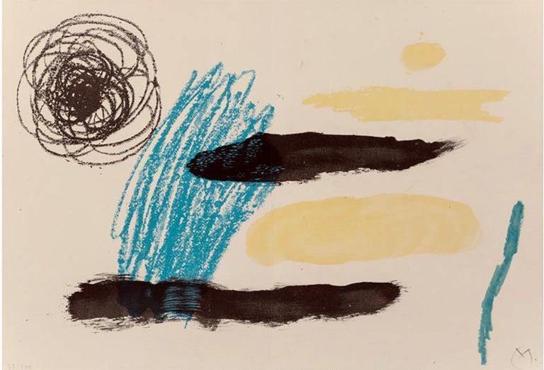JOAN MIRO  UNTITLED, FROM OBRA INEDITA RECENT  1964 - Print by Joan Miró