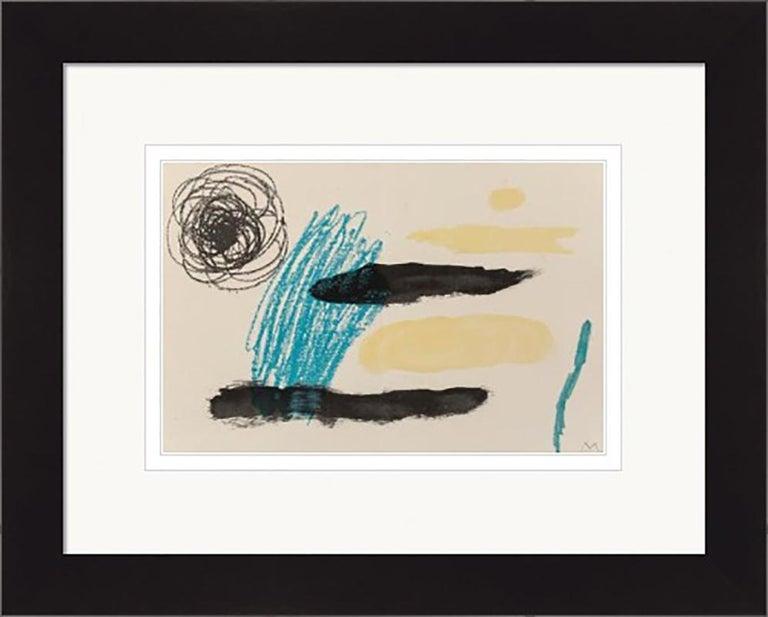Joan Miró Abstract Print - JOAN MIRO  UNTITLED, FROM OBRA INEDITA RECENT  1964