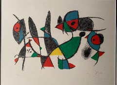 "Joan Miro, ""Untitled"", hand signed lithograph"