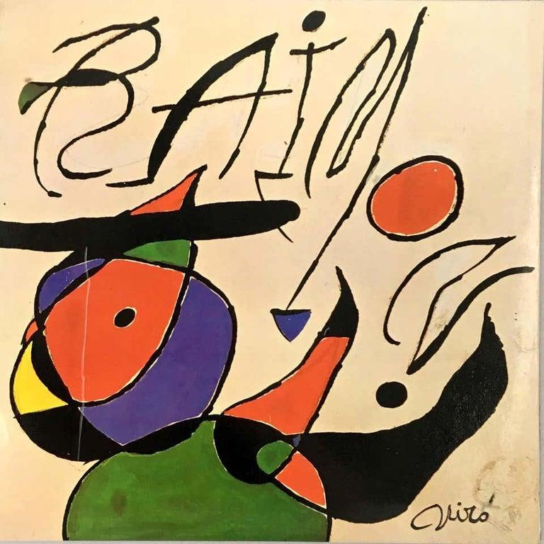 Joan Miró Vinyl Record Art (set of 2) - Contemporary Print by Joan Miró
